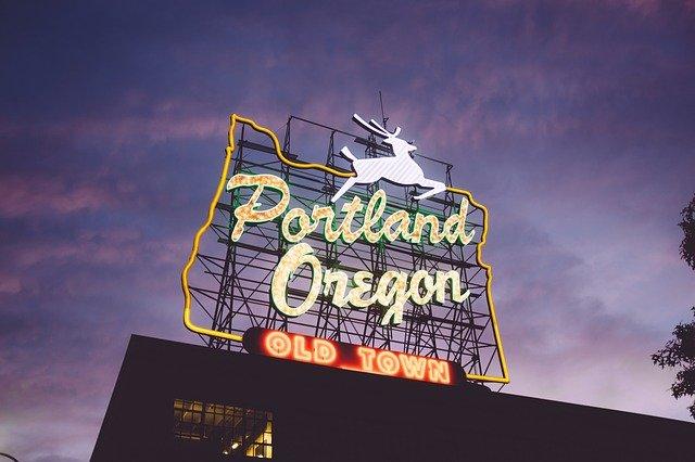 Portland Oregon Entrance Sign
