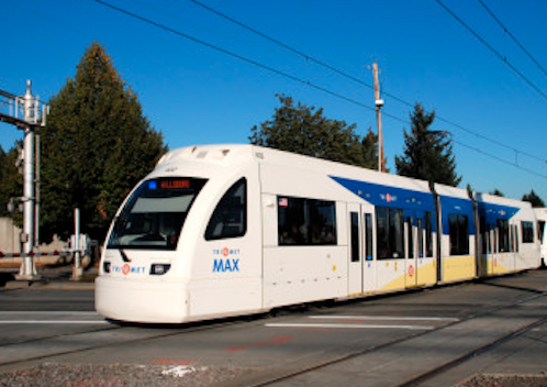 Hillsboro Trimet Max Light Rail Train