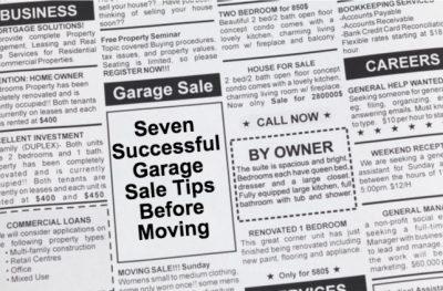 Garage Sale Tips in Newspaper Classifieds