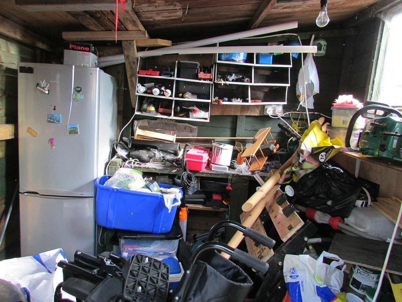This packed garage is not ready for a move. Do you know how to downsize your belongings?
