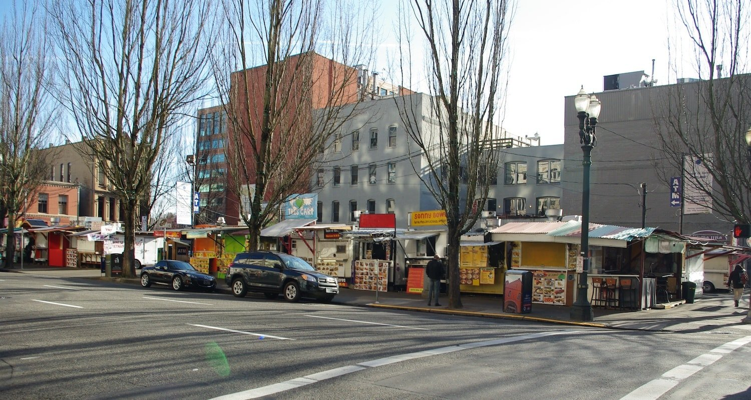 Food Cart Pod 3rd & Washington - Moving to Portland Oregon