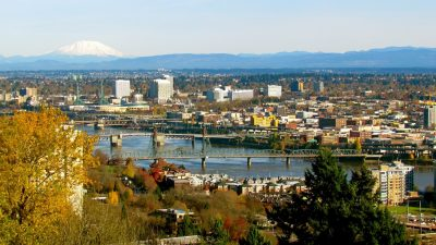 Moving to Portland Oregon View of the City