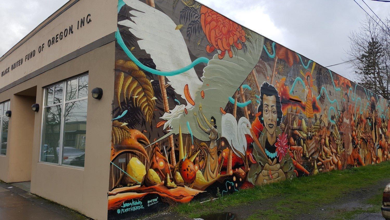Alberta Portland wall mural