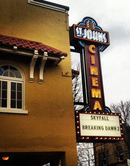 St. Johns Cinema sign