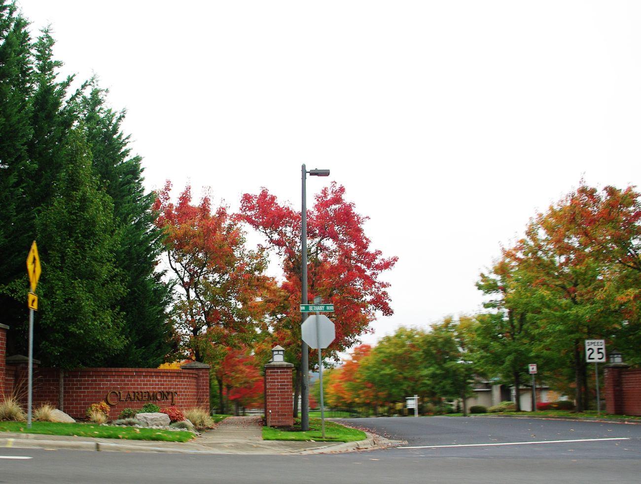 Claremont neighborhood in Bethany, Oregon