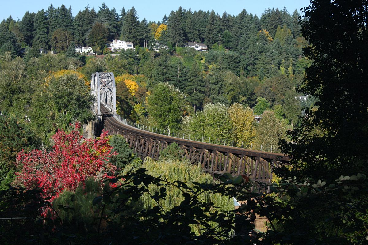 Railroad Bridge in Lake Oswego